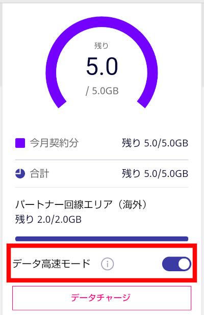 楽天モバイル データ制限モードにする方法(ブラウザ)