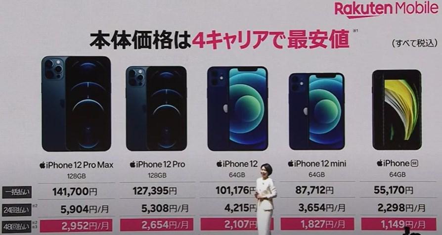 楽天モバイル iPhone価格